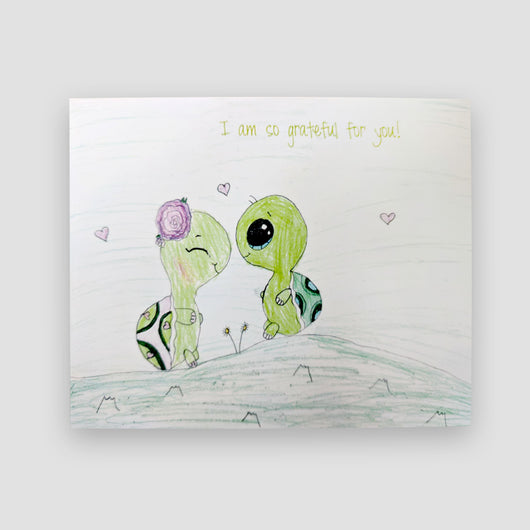 Say It With Gratitude Turtles Design - 1 Pack of 8 Cards