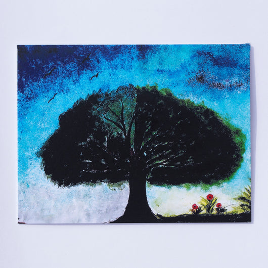 Say It With Gratitude - 1 Pack of 8 Cards: Tree With Flowers