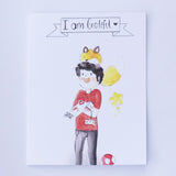 Say It With Gratitude - 1 Pack of 8 Cards: Boy With Fox