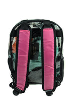 "Transparent Backpack with ""Life is Beautiful"" detachable strap colors"