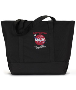DESTINATION MARS GIANT ZIPPERED TOTE
