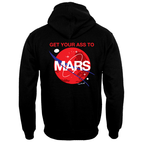 ADULT GET YOUR ASS TO MARS FRONT ZIP MEDIUM-WEIGHT HOODIE