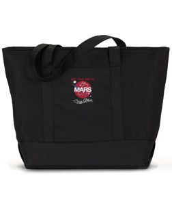 GET YOUR ASS TO MARS GIANT ZIPPERED TOTE
