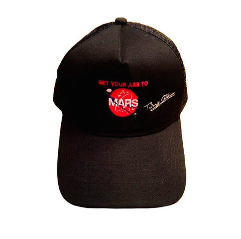 GET YOUR ASS TO MARS BLACK TRUCKER HAT
