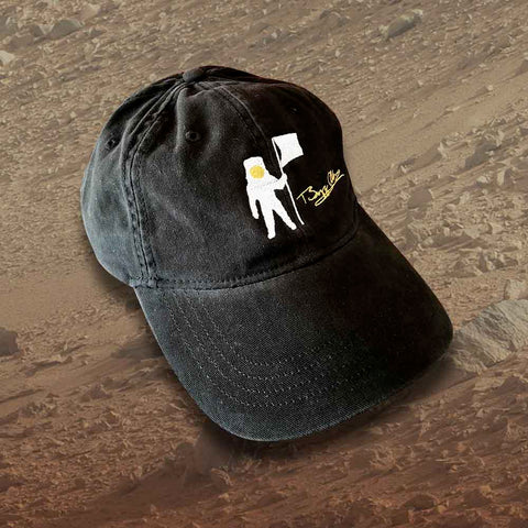 Astro flag hat with Buzz Aldrin's signature