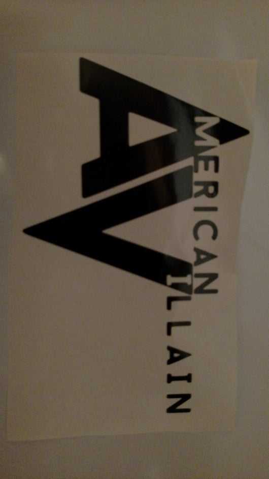 AV Lightning Logo Vinyl Decal