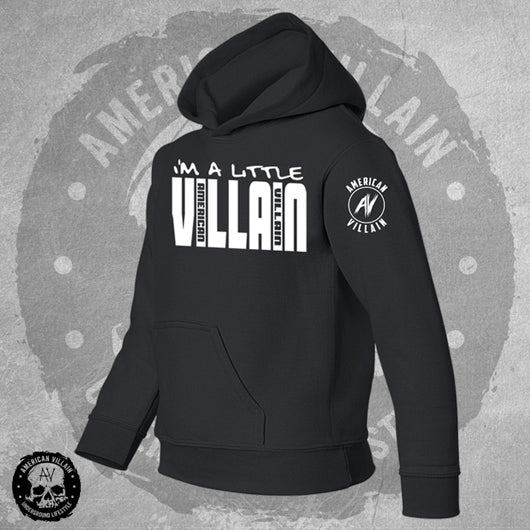 Youth Lil Villain Black Hoodie