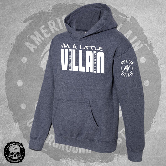 Youth Lil Villain Navy Heather Hoodie