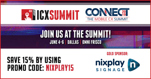 Nixplay Signage to Exhibit at the 2019 Interactive Customer Experience (ICX) Summit - June 4-6