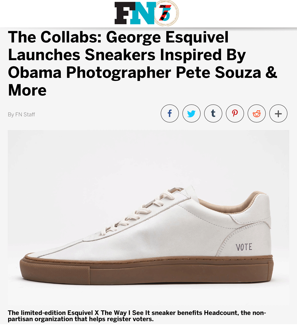 The Collabs: George Esquivel Launches Sneakers Inspired By Obama Photographer Pete Souza & More