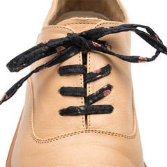 Black Floral Shoe Laces