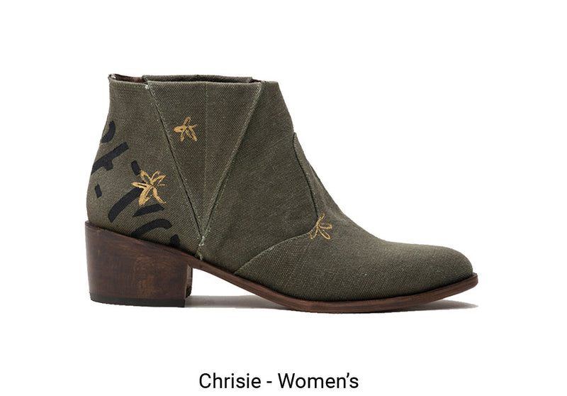Womens Chrissie Made To Order Green Boot
