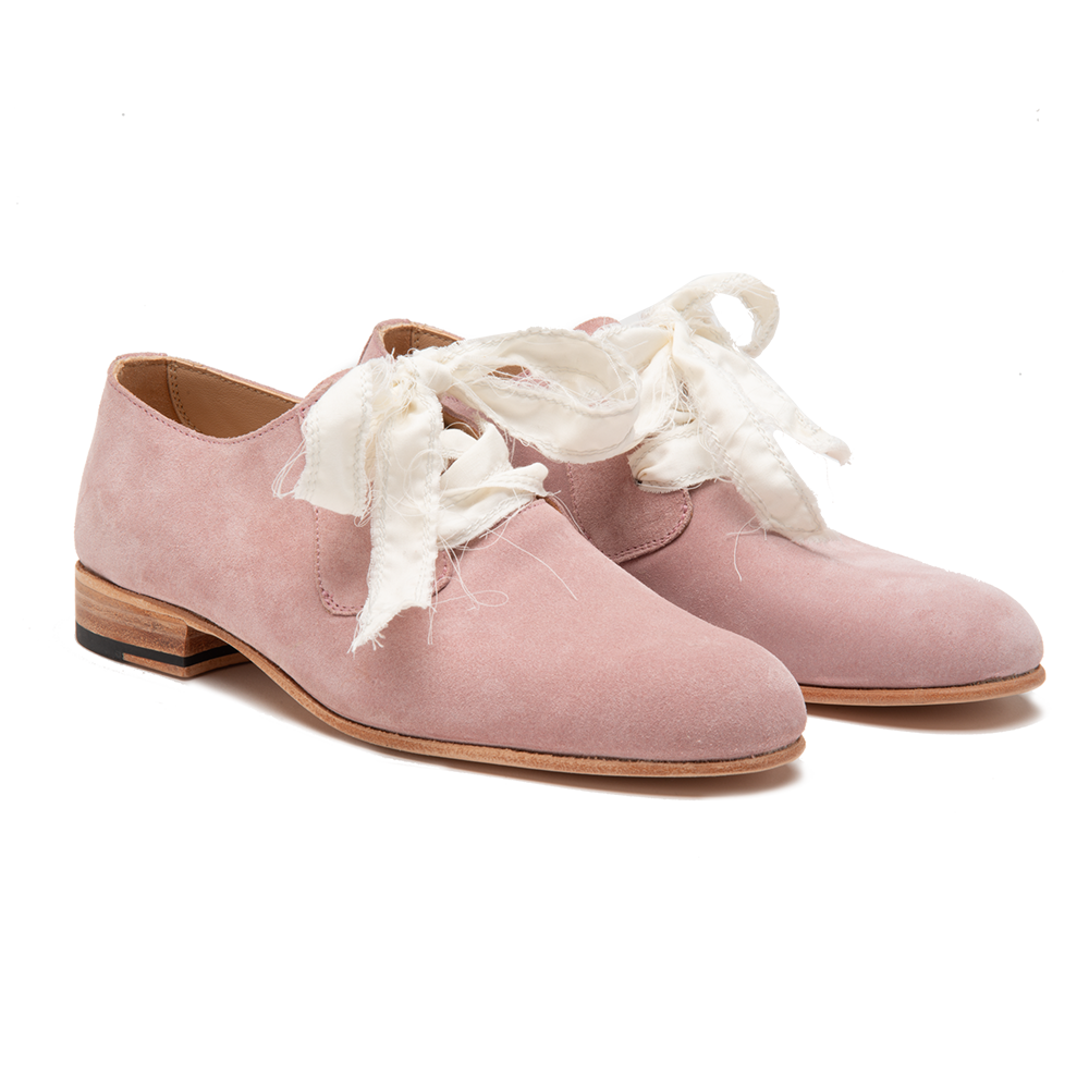 Women's Derby Pink Suede