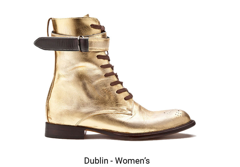 Dublin Made To Order Womens Gold Boot