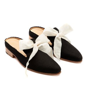 Women's Black Canvas Grace Shoe