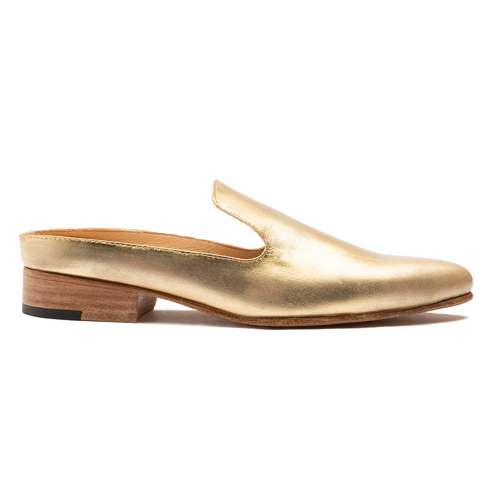 Women's Gold Distressed Grace Slip On Shoe