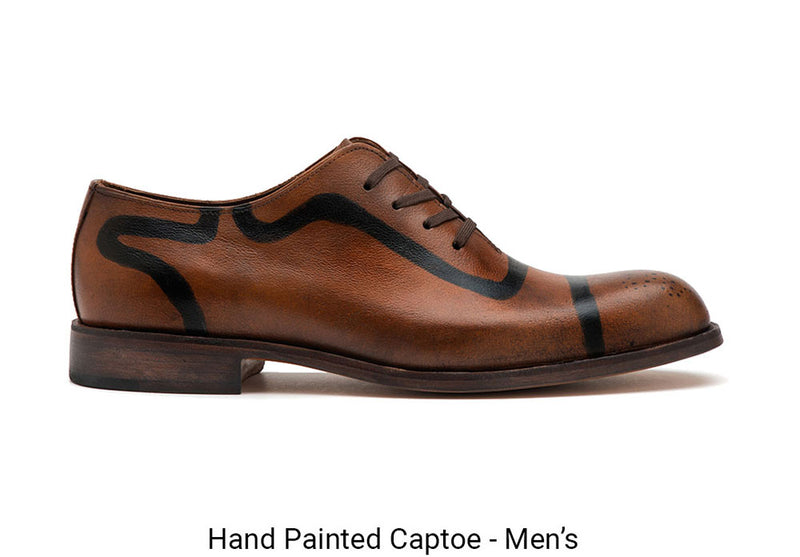 Hand Painted Captoe Men's Made To Order Shoe