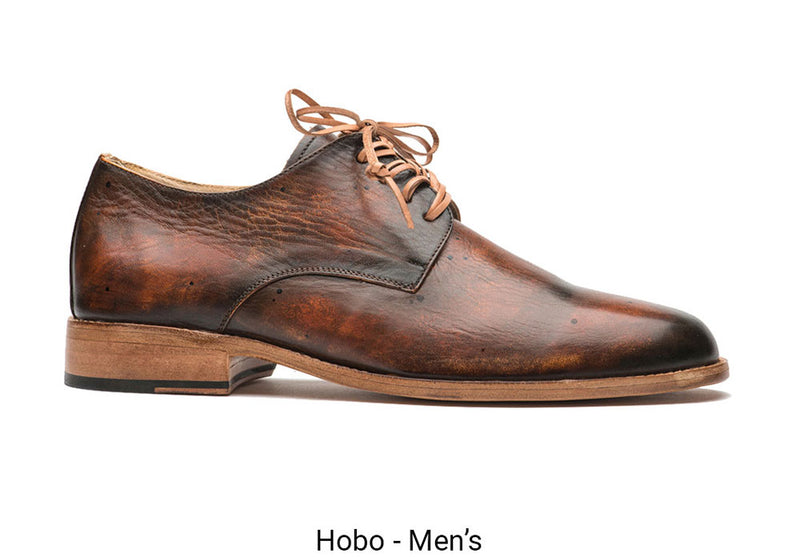 Brown Hobo Men's Made To Order Shoe