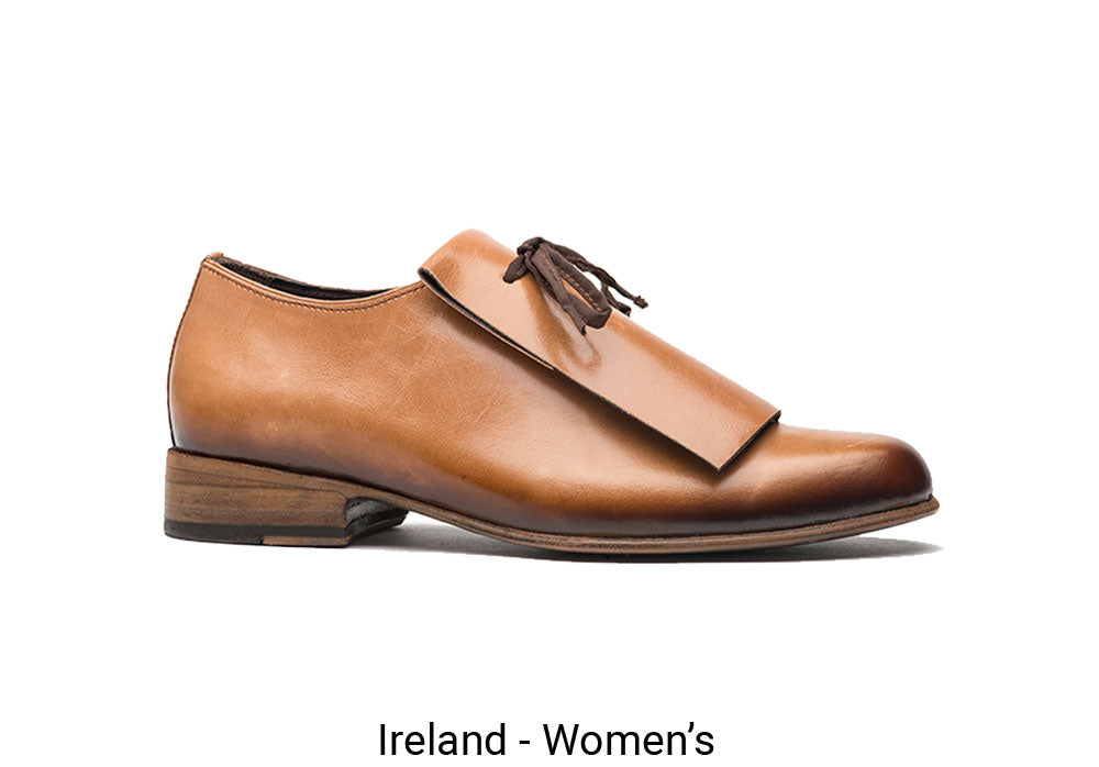 Ireland Women's Brown Made To Order Shoe