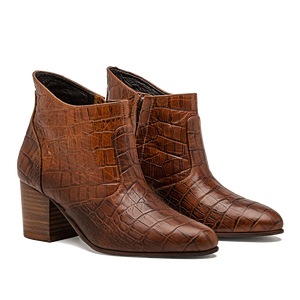Brown Faux Croc Jill