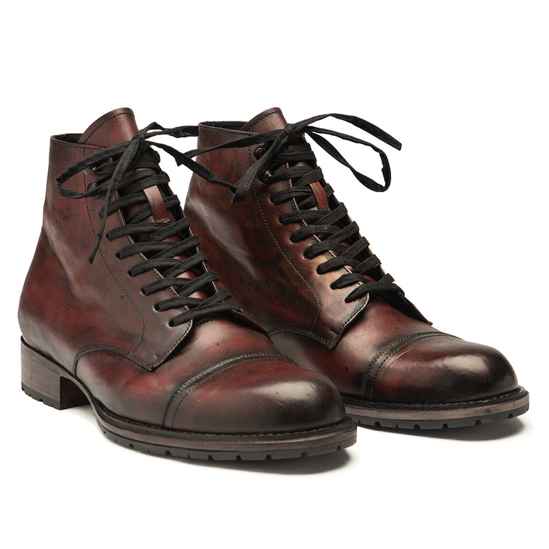 Men's Bordeaux Handburnished Vern Boot