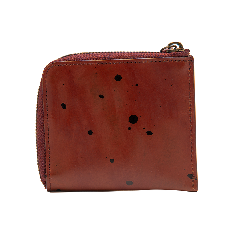 Red with Black Accents Zip Wallet