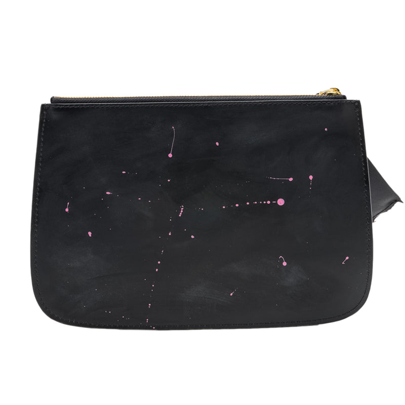 Black with Pink Accents Clutch