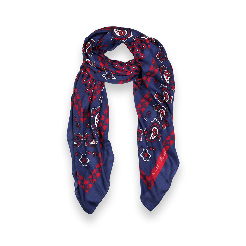 Esquivel Scarves Cinabre Navy & Bordeaux