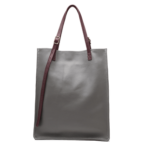London Grey / Burgundy Tote