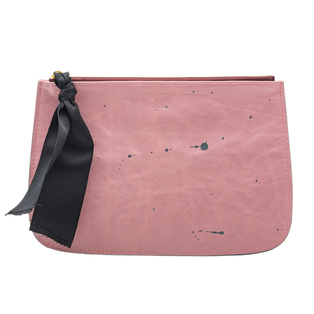 Pink with Black Accents Clutch