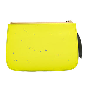 Yellow with Gray Accents Clutch