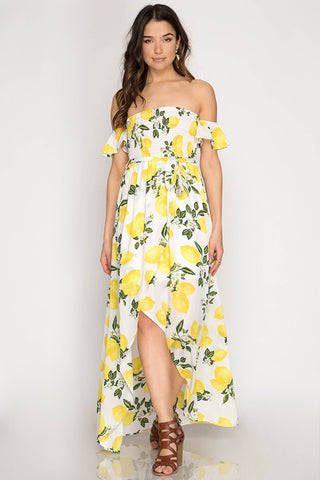 Lemon Maxi Dress