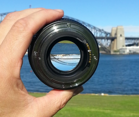 A lens with a large aperture