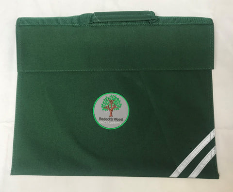 Bottle Green Embroidered Book Bag (BWA)