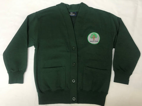 Bottle Green Embroidered Cardigan (BWA)