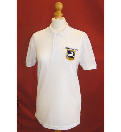 White Embroidered PE Polo Shirt (DM)