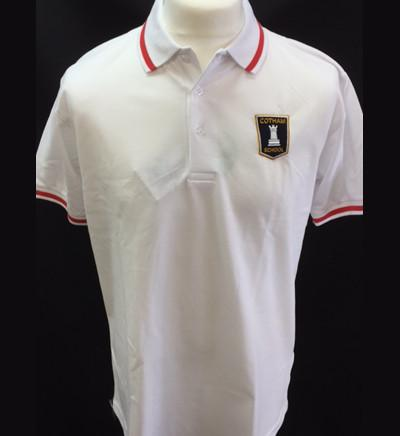 White Polo Shirt - Year Seven - Red trim (OMEGA house) (CS)