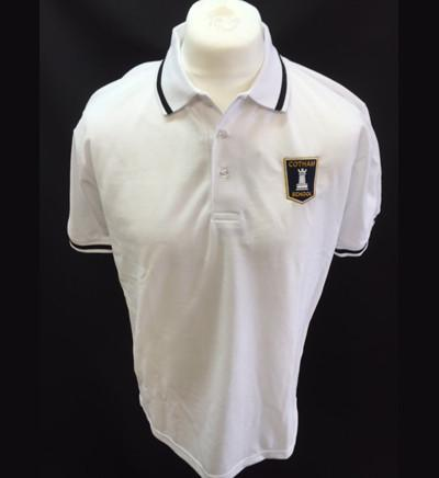 White Polo Shirt - Year Seven - Black trim (GAMMA house) (CS)