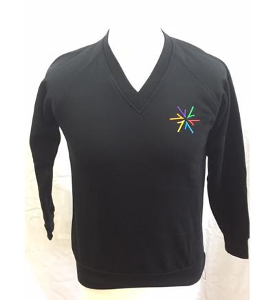 Black V Neck Sweatshirt (AWS)