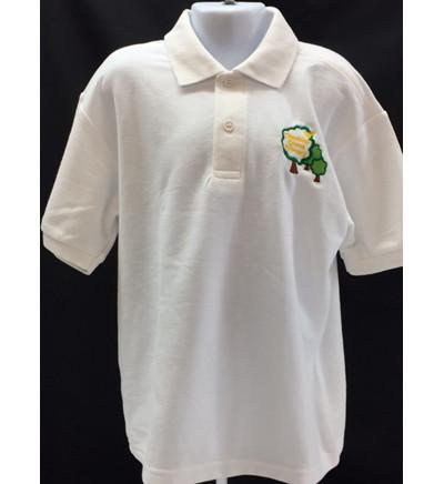 White Embroidered Polo Shirt (CGS)