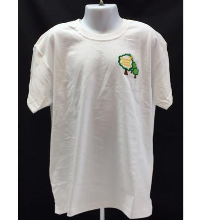 White Embroidered Tee Shirt - PE (CGS)