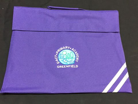 Purple Embroidered Book Bag (GA)
