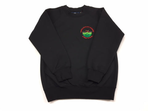 Black Embroidered Sweatshirt (HA)