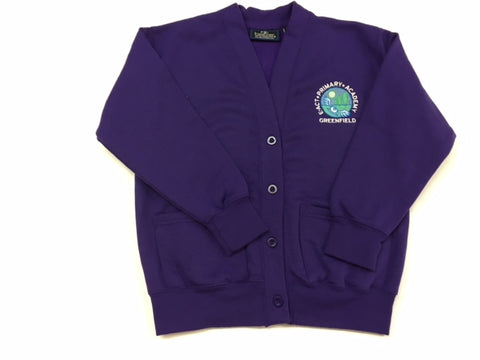 Purple Embroidered Cardigan (GA)