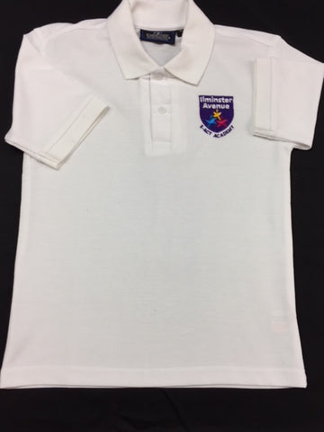 White Embroidered Polo Shirt (IAA)