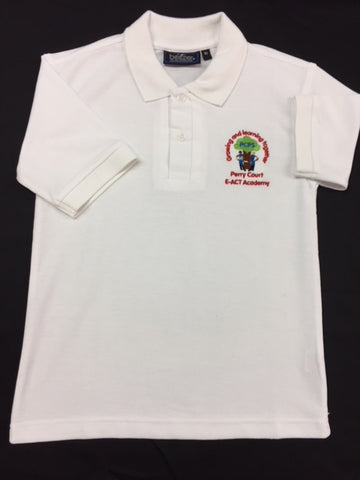 White Embroidered Polo Shirt (PCA)