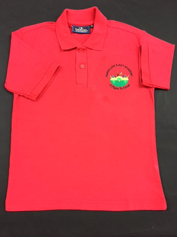 Red Embroidered Polo Shirt (HA)