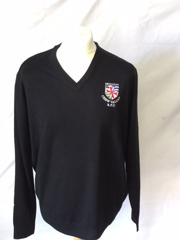 Henbury 100% Black Acrylic Sweater (CVRFC)