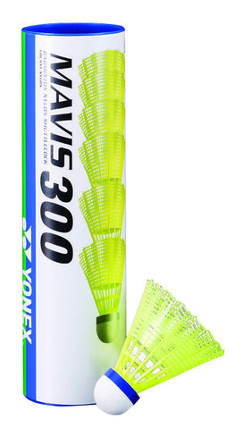 Yonex Mavis 300 Yellow Skirt Medium Speed Shuttles (Pack of 12)