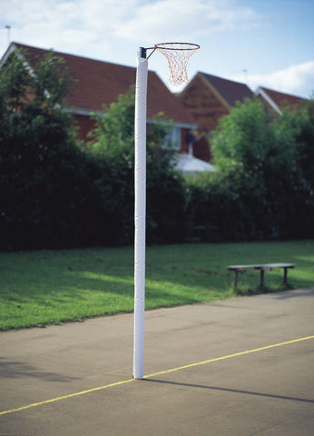 White Foam Filled Netball Post Protectors